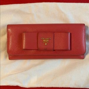 Authentic Prada Pink Wallet